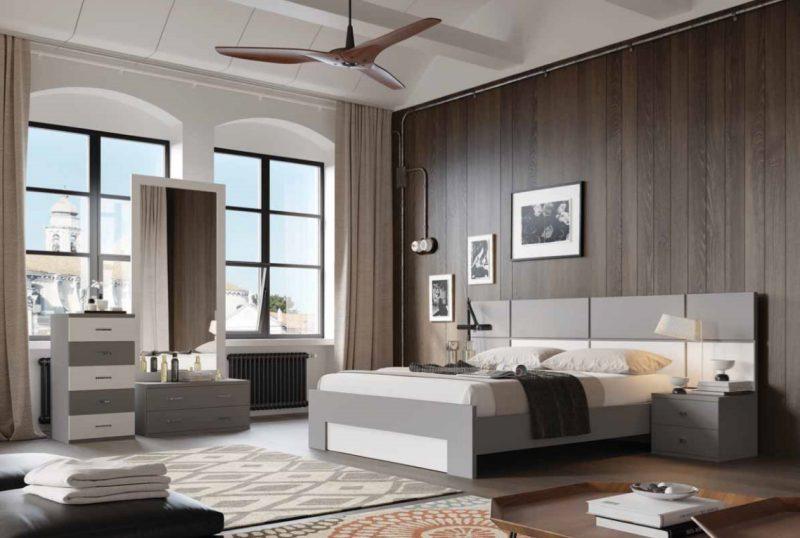 חדר שינה בצבעי אפור