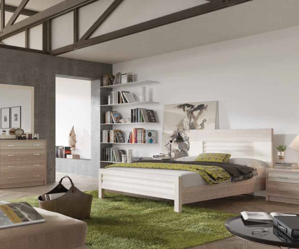 חדר שינה בצבע עץ אלון