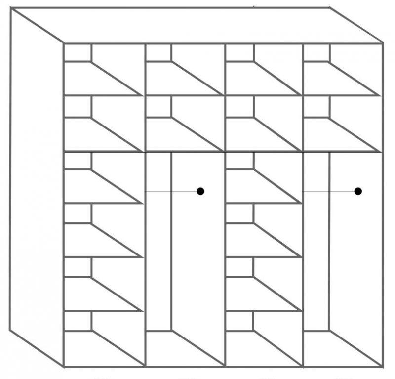 ארון 4 תאים