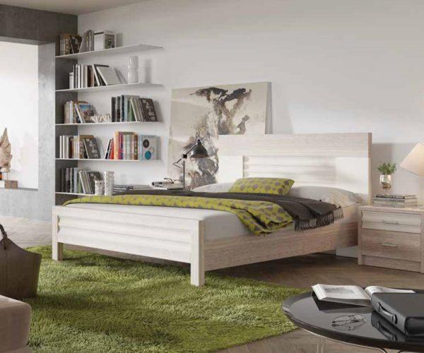 מיטה בצבע עץ אלון